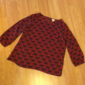 Black & Red Blouse